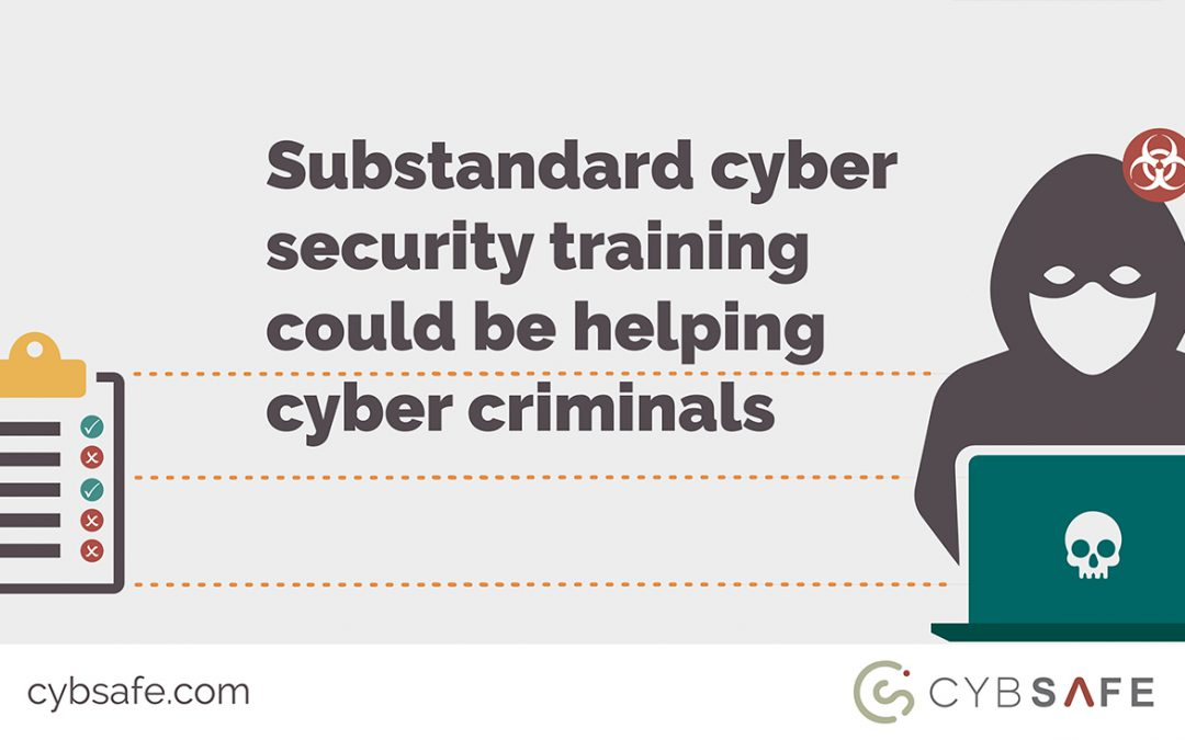 substandard cyber security training blog image