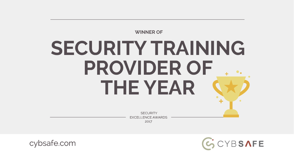 CybSafe Named Security Training Provider of the Year 2017