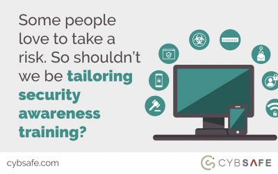 Some people love to take a risk. So shouldn't we be tailoring security awareness training?