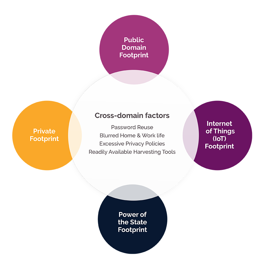 Four digital footprint domains